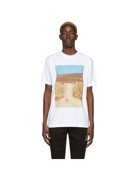 White Ostrich T Shirt by Marcelo Burlon County Of Milan