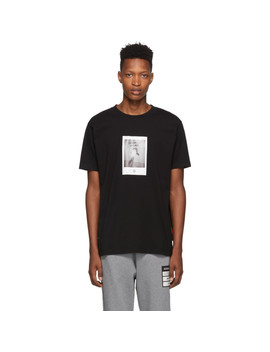 Black Rose Square T Shirt by Marcelo Burlon County Of Milan