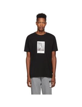Black Rose Square T Shirt by Marcelo Burlon County Of Milan