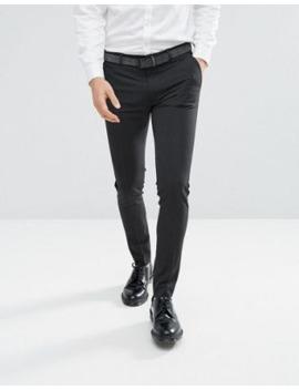 Asos Design – Superenge, Elegante Hose In Anthrazit by Asos