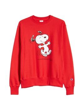 X Peanuts® Dancing Snoopy Graphic Sweatshirt by Champion