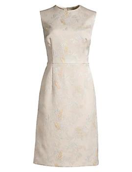 Dahnia Sleeveless Jacquard Sheath Dress by Escada
