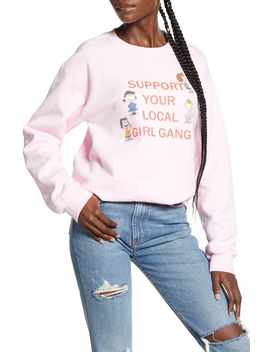 X Peanuts® Support Your Local Girl Gang Sweatshirt by Girl Gang