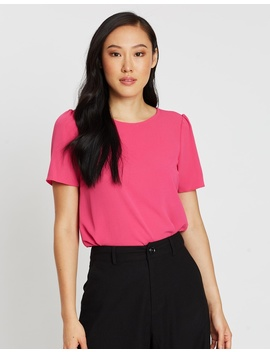 Puff Sleeve Tee by Dorothy Perkins