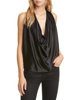 Convertible Stretch Silk Charmeuse Top by Ramy Brook