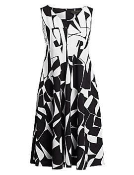 Dalia Geometric Print Shfit Dress by Marina Rinaldi, Plus Size