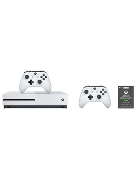 Xbox One S 1 Tb Bundle With 2 Wireless Controllers & 3 Month Game Pass Ultimate by Microsoft