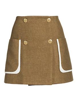 Tweed Print Flannel Mini Skirt by Fendi