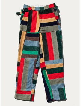 Corduroy Patchwork Trouser by Bode