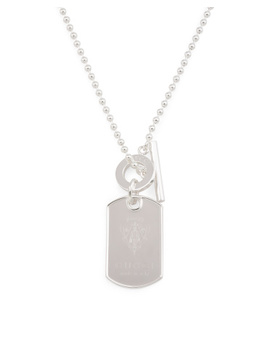 Men's Made In Italy Sterling Silver Crest Dog Tag Necklace by Tj Maxx