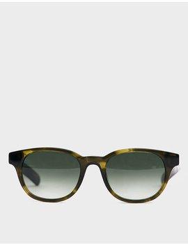 Logic Sunglasses In Olive Horn by Flatlist Flatlist