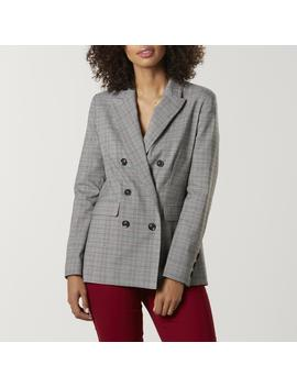 Simply Styled Women's Blazer   Plaid by Simply Styled