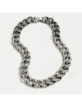 Pavé Chain Necklace by J.Crew