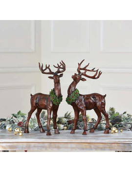 Table Top Decorative Deer, Set Of 2 by Costco