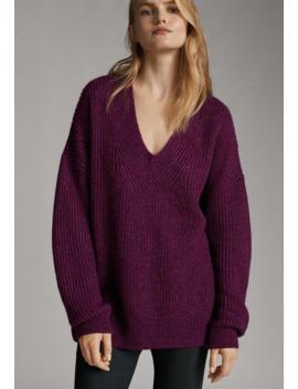 Mit V Ausschnitt   Sweter by Massimo Dutti