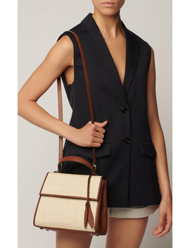 Viola Leather Trimmed Canvas Bag by Hunting Season