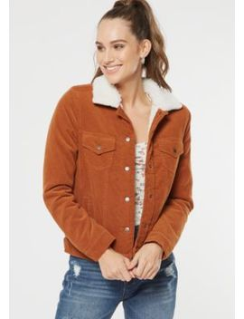 Camel Corduroy Sherpa Lined Jacket by Rue21