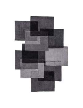 Grey Squares Shaped Rug by Dunelm