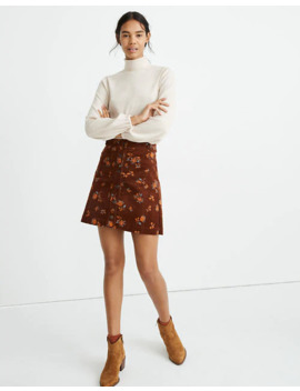 Corduroy A Line Mini Skirt In Forest Floral: Patch Pocket Edition by Madewell