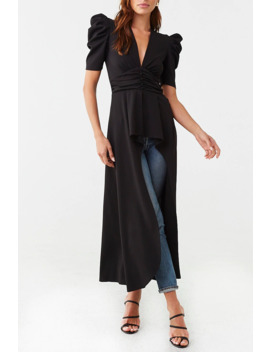 Puff Sleeve High Low Tunic by Forever 21