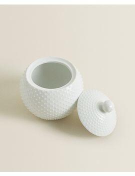Contenitore In Ceramica Con Punti Cesti E Mobili   Bagno by Zara Home