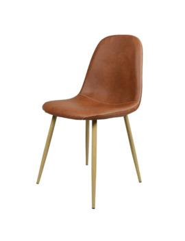 Carson Carrington Sagudden Modern Faux Leather Dining Chair   Brown by Carson Carrington