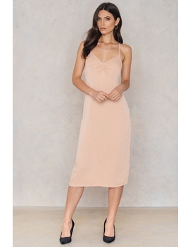 Beaded Slip Dress Pink by Na Kd Party