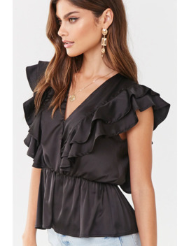 Ruffled Surplice Top by Forever 21