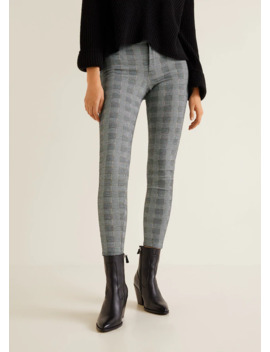 Leggings Estampado Cuadros by Mango