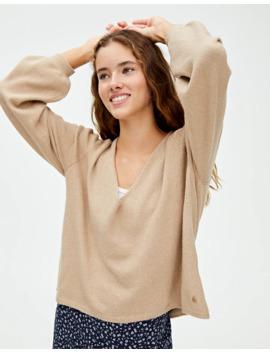 Sweater Básica Com Decote Em Bico by Pull & Bear