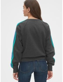 Vintage Soft Side Stripe Raglan Sweatshirt by Gap