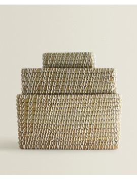 Contrast Rectangular Basket  Baskets And Furniture   Bathroom by Zara Home