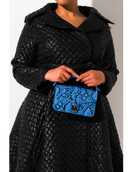 Breakfast At Tiffanys Structured Snake Purse by Akira