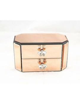 <Span><Span>Twin Compartments Rose Gold Mirrorred Crystal Butterfly Jewellery Box Gift</Span></Span> by Ebay Seller