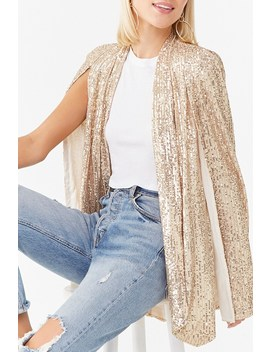 Sequin Cape Jacket by Forever 21