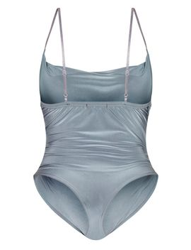 Shape Charcoal Slinky Cowl Neck Bodysuit by Prettylittlething
