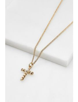 Pearl Cross Pendant Necklace by Urban Outfitters