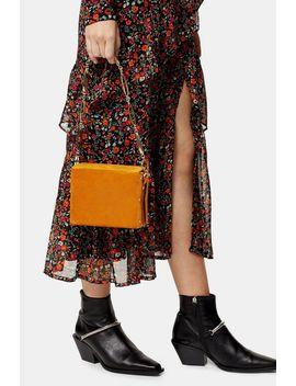 Malin Mustard Velvet Cross Body Bag by Topshop