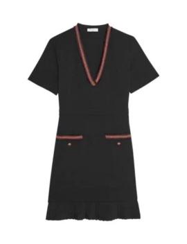 Orna Braided Trim Shift Dress by Sandro