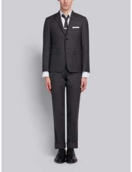 Super 120 S Twill Suit With Tie by Thom Browne
