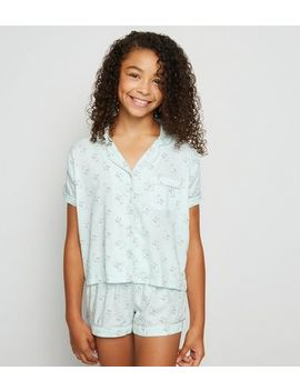 Girls Mint Green Llama Pyjama Set by New Look