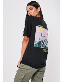Black Bad Choices Graphic Back T Shirt by Missguided