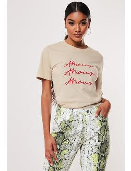 Sand Amour Graphic T Shirt by Missguided