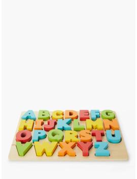John Lewis & Partners Wooden Abc Puzzle by John Lewis & Partners