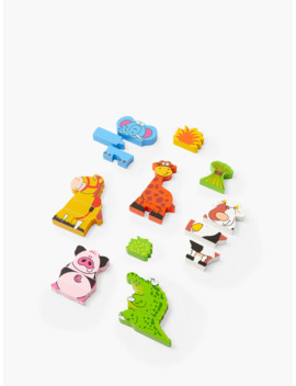 John Lewis & Partners Wooden Magnetic Animals by John Lewis & Partners