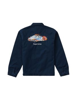 Supreme Cop Car Embroidered Jacket Light Navy by Stock X