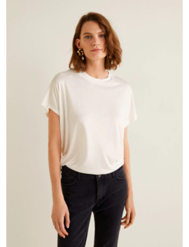 Rounded Neck T Shirt by Mango