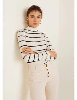 Striped Turtleneck T Shirt by Mango