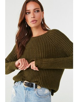 Chunky Ribbed Knit Raglan Sweater by Forever 21