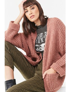 Fuzzy Ribbed Cardigan by Forever 21